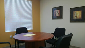 trial preparation room table and chairs